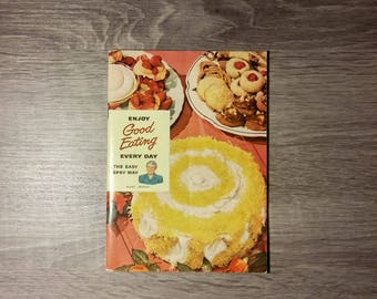 Vintage 1949 Enjoy Good Eating Every Day the Easy Spry Way by Aunt Jenny from Lever Brothers Company recipes and cookbook