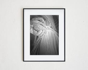 UNMASKED | instant download, printable wall art, modern decor, classical art, sculpture, greek myth, statue, black and white, dramatic