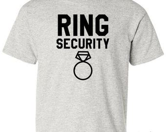 Ring Bearer T-Shirt - Ring Security Boys Tee (3 Colors)