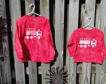 Kids Fire Truck Shirt, Red Fire Truck Shirt, Boys Fire Truck Shirt, Girls Fire Truck Shirt, Fire Engine Shirt, Kids Truck Shirt