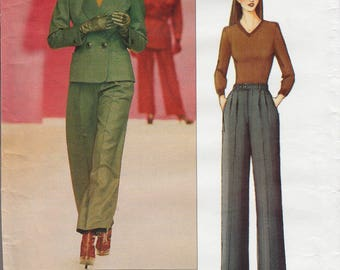 Vogue Paris Original 2519 / Designer Sewing Pattern By Yves Saint Laurent / YSL / Pants Trousers Jacket Suit Pantsuit / Sizes 8 10 12