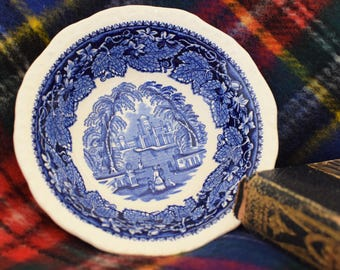 Vintage Blue Transferware Bowl Masons Vista England