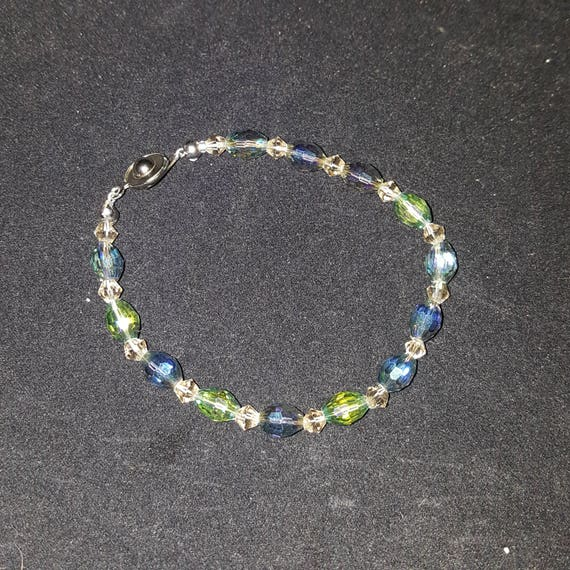 "Multicolored Crystal Bracelet - ""Candy"""