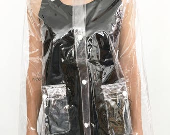 Plastic Clear Transparent Raincoat Jacket (Ready to ship)