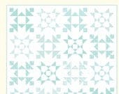 Snowflakes Quilt Pattern ~ Winter Holiday Quilt Pattern - Cotton Way #1011 ~ Snowflake Quilt - Two Color Quilt Pattern