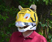 Big Cat Mask Papercraft Pattern - Build a Tiger, Panther, Lion and more! | Animal Mask | DIY Mask | Halloween Mask | Craft Project