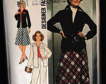 Simplicity 7753 Designer Fashion Misses Bias Skirt, Shirt, Jacket and Pants