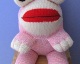 Pink Sock Frog