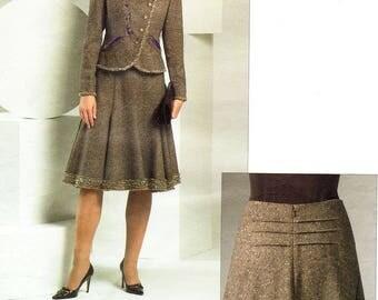 Pick Your Size - Vogue Dress Pattern V2870 by OSCAR de la RENTA - Misses' Trim Detail Lined Jacket & Flared Skirt - Vogue American Designer