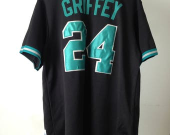 vintage 90s KEN GRIFFEY jr. size medium Seattle MARINERS jersey made in the usa