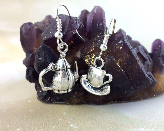 Sterling Silver Tea Set Earrings K10 K11