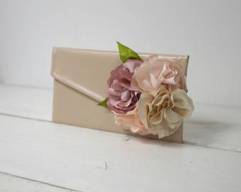 Blush pink wedding purse | Nude wedding clutch | Custom nude clutches |  Bridal nude clutch