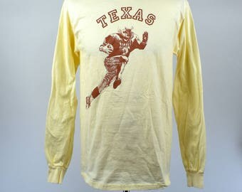 1988 University of Texas Football T-Shirt, Made in the USA, Large, Texas Longhorns Football