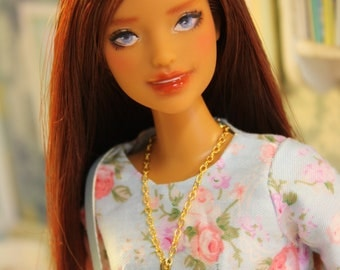 Ooak Barbie doll by Nerea Pozo (fashionista n66) Custom repaint doll