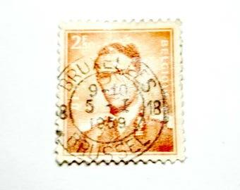 Vintage Belgium Postage Stamp