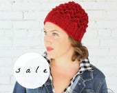 SALE | The Wisteria Hat | SELECT COLORS | Chunky Hat Knit Lace Textured Winter