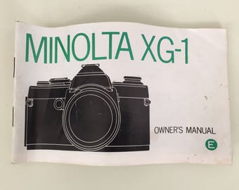 Minolta XG-1 Owner's Instruction Manual in English, Vintage 1970s Camera Instructions Booklet for XG1, 53 pages, 1979, Manual Only