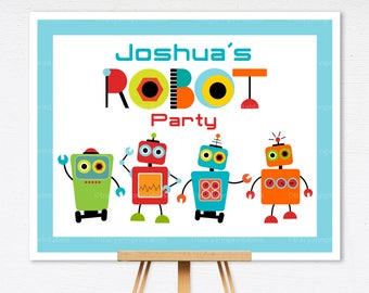 Custom Robot Party Printable Party Sign | 1122