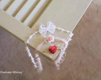 Newborn Valetine's Tieback Set, Valentine Tieback, Heart Tieback, Simple, Dainty, Newborn Tieback, Newborn Headband, White, Red, Pink, RTS