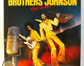 "ON SALE The Brothers Johnson Vinyl Record Album 1970s Funk R&B Dance Quincy Jones Produced Lp ""Right On Time""(1977 A and M Records)"