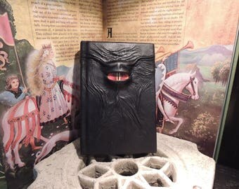 Journal---Mythical Beast Book (The Watchful Eye-Black  with Red eye)