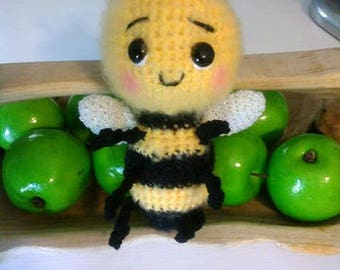 Crochet fuzzy Bumble Bee