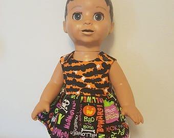 Luvabella Doll Clothes - Halloween Bats Dress