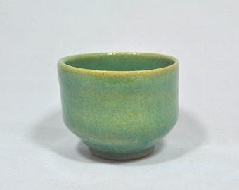 Blue Green Tea Cup