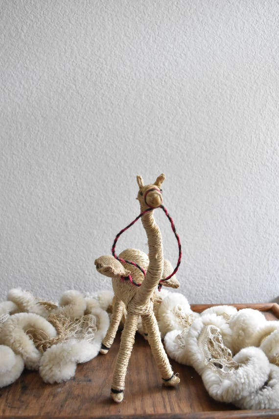 plush llama camel figurine sculpture doll
