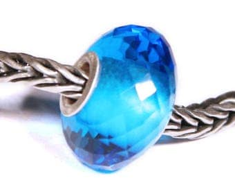 Gemstones by Anne Meiborg - Artisan europian charm bead -  small core - BHB big hole - Blue Quartz - 07553