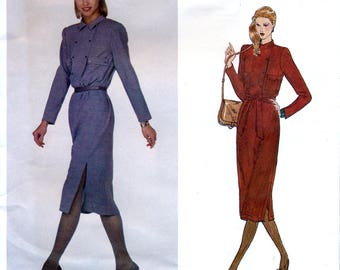 Vogue Americana 2214 Vintage 70s Sewing Pattern by Stan Herman for Misses' Dress - Uncut - Size 10 or 14