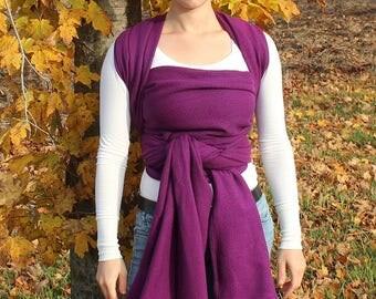 Handwoven Baby Wrap Cotton Tencel Blend Plumberries 4.6m