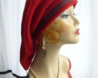 Paprika Polar Fleece  Teardrop/ Treking Hat