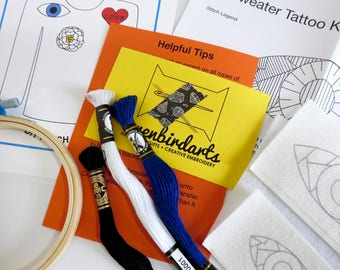 Embroidery Kit, Third Eye Modern DIY, Embroidered Patch Kit Handmade Patches