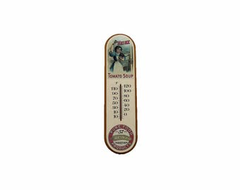 Vintage Thermometer Heinz Tomato Soup Advertising Thermometer 1986 Collectible Kitsch Kitchen Decor Wall Hanging Cottage Chic
