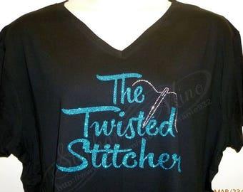 The Twisted Stitcher Glitter Vinyl T-shirt