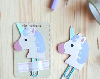 Unicorn Planner Clip, Unicorn Paperclip, Planner Accessories, Stationery, Kikki Filofax Erin Condren, Bookmarks, Planner Goodies, Unicorn