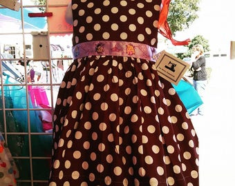 Princess Brown Dot Dress