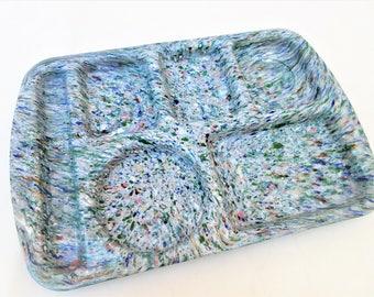 Vintage Lunch Tray   Prolon Divided Tray   Cafeteria Tray   Splatterware   Confetti Platter