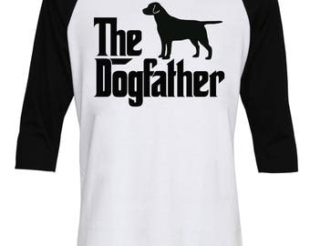 The Dogfather Labrador Shirt - The Dog Father Labrador Shirt - Dog Dad - Dog Lover - Birthday's Gift - Men - Baseball T-Shirt - IZBSUB154