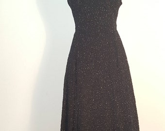 Vintage 1970s Little Black Dress LBD Swim by Dance Disco Cocktail Dress Medium