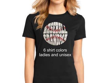 Women's Glitter Bling Baseball Grandma shirt