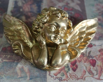 1 Vintage Gold Colored Cupid