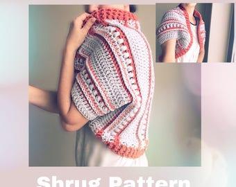 Crochet Pattern - Tunnels Sweater / Crochet Cardigan Pattern / Crochet Pattern Women / Crochet Sweater Pattern