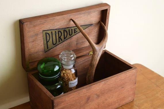 Small Vintage Wood Box - Rustic, Mancave, Primitive, Ecletic, Natural