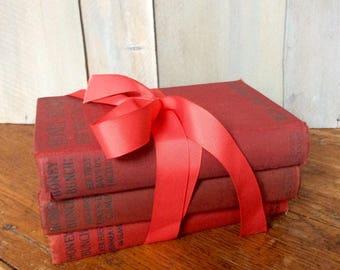 Vintage Honey Bunch Series Books / Set of Red Books / Children's Book Series