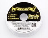 Stretch Cord .5MM Clear Elastic Power Cord Stretchy Bead Cord 25m/roll