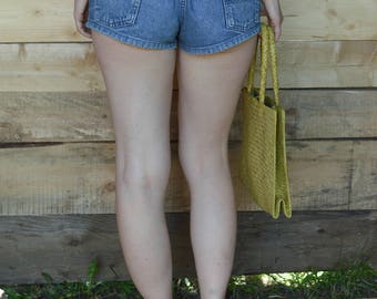 High Waisted Denim Shorts Vintage 90's jeans shorts hotpants
