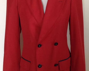 Jean Paul Gauttier Classique red black blazer jacket