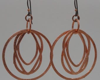 Copper Rings Earrings
